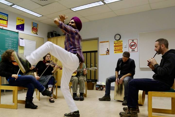 Bhangra Practice Session with Crooked Folk