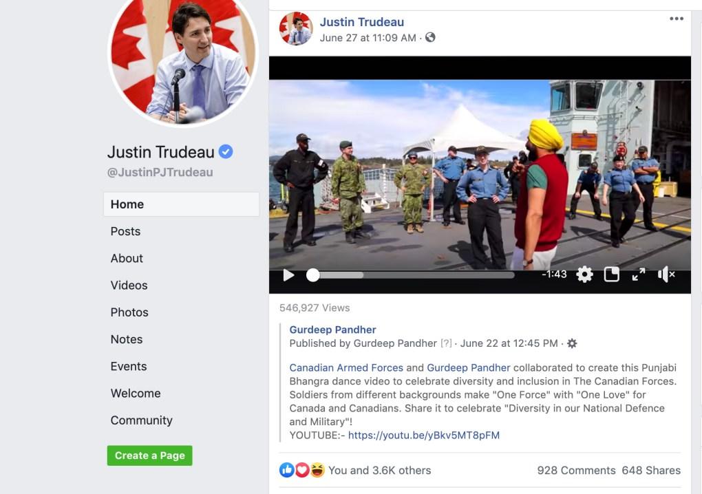 PM Justin Trudeau Shared Gurdeep Pandher's Work