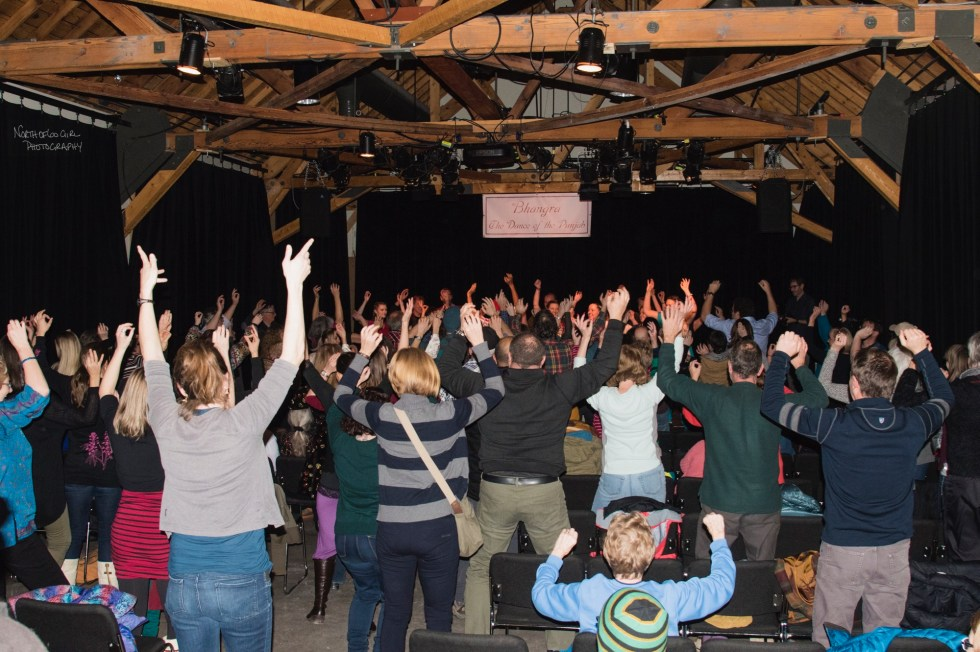 Audience dancing along! Photo by: Laurie Tamminen