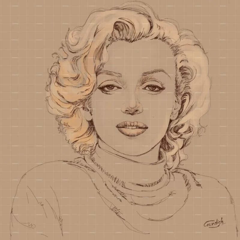 American figurative art of Marilyn Monroe