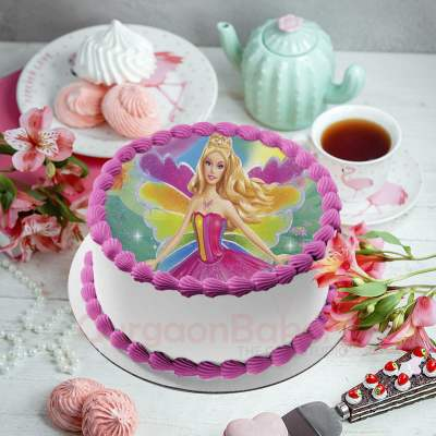 barbie fairy cake
