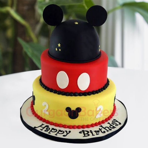 3 tier mickey mouse cake