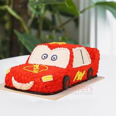 3d lightning mcqueen cake