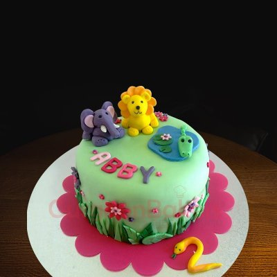 animal cuteness overload cake