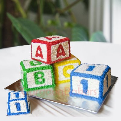 blocks number birthday cake for kids