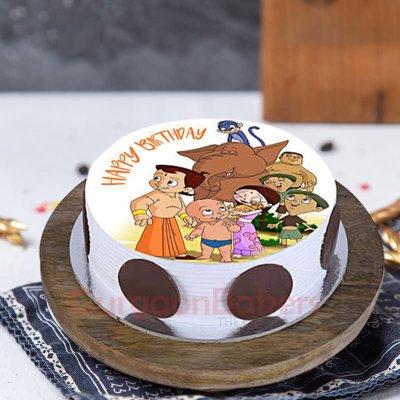 chhota bheem and friends cake