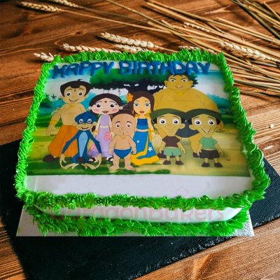 chhota bheem gang and princess indumati cake