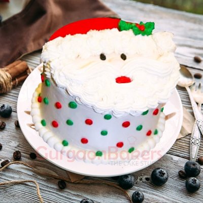 send cute santa christmas cake to gurgaon