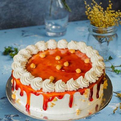 dazzling butterscotch drip cake