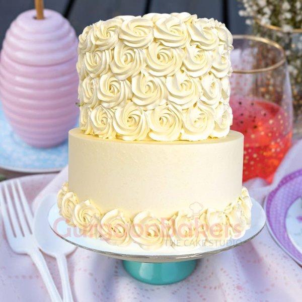 elegant white chocolate swirls
