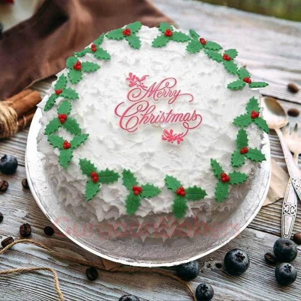 happy holidays xmas cakes in gurgaon