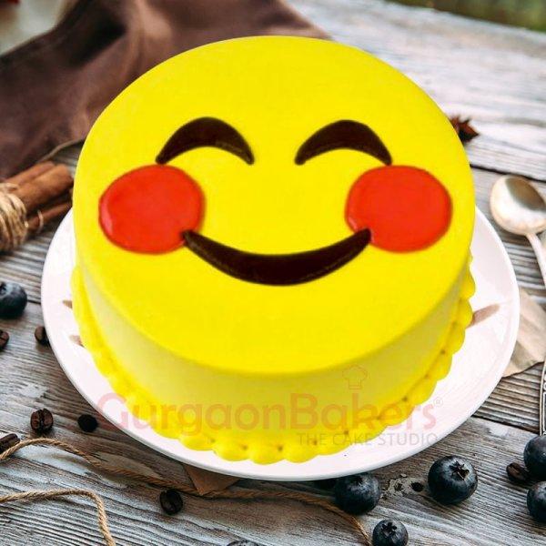 happy smiley cake