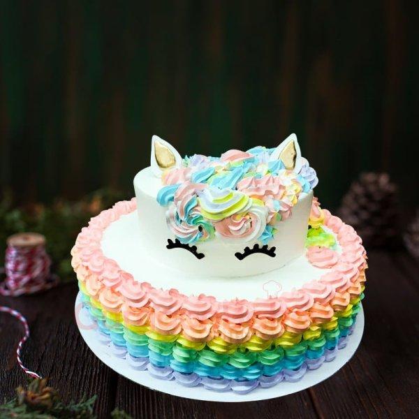 large unicorn cake