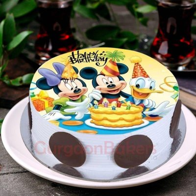 mickey minnie and donald cake