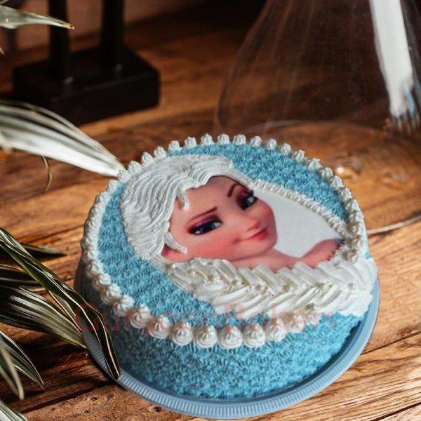 pretty frozen cake
