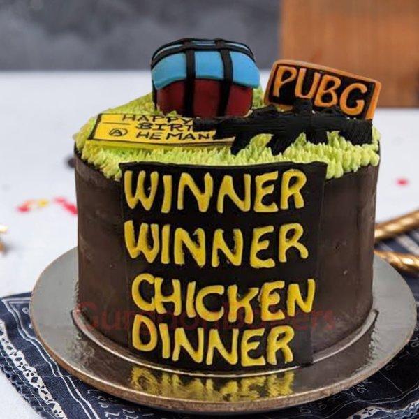pubg winner winner chicken dinner cake