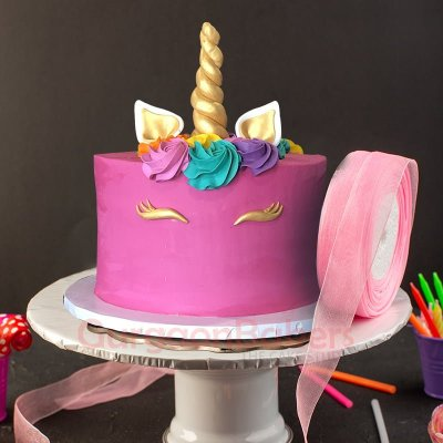 purplicious unicorn cake