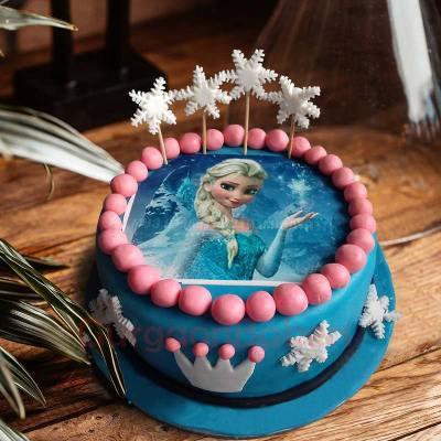 queen elsa gumball cake