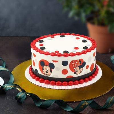 mickey minnie love cake