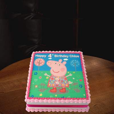 pretty peppa pig bday cake