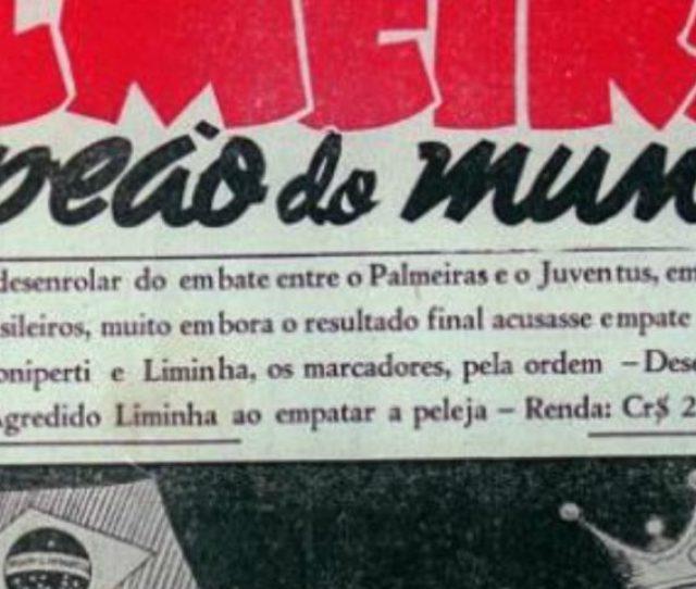 22 De Julho De 1951 Data Marcante Para A S E Palmeiras