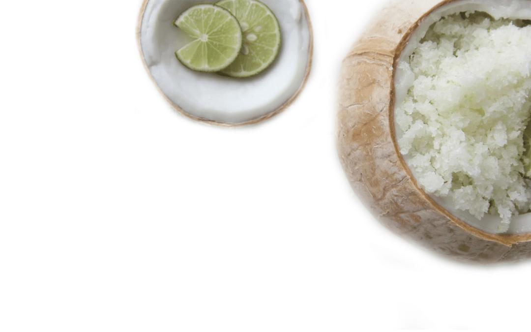 DIY Coconut-Lime Body Scrub