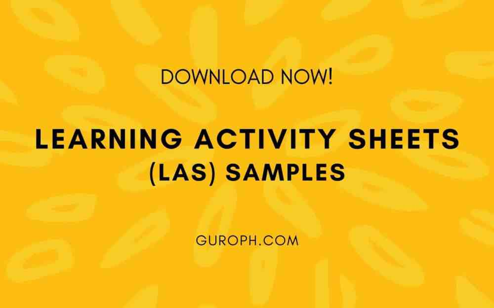 medium resolution of Learning Activity Sheets (LAS) Samples (Download Now!)
