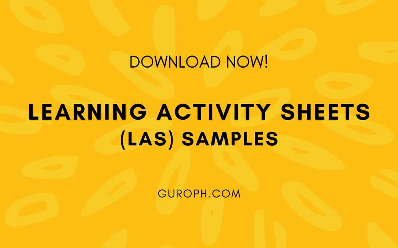 hight resolution of Learning Activity Sheets (LAS) Samples (Download Now!)
