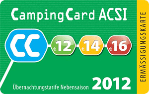 ACSI Camping Card 2012