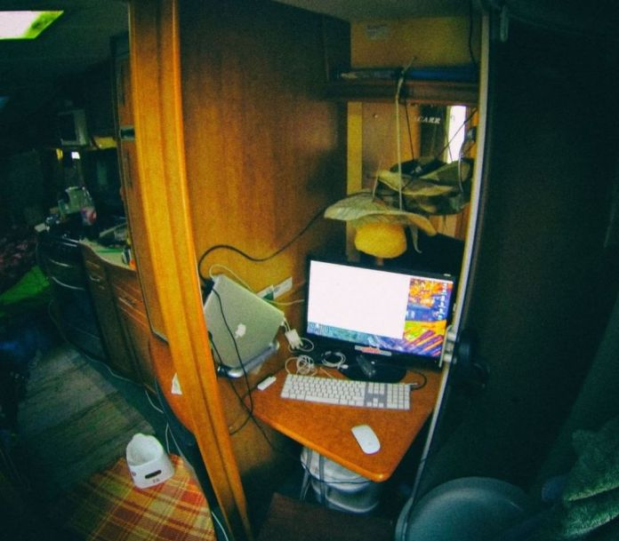 Caravan Office Setup