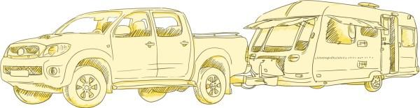 Caravan Trailer Sketch