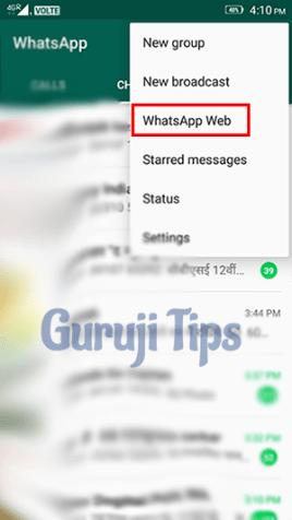 WhatsApp Web Setting