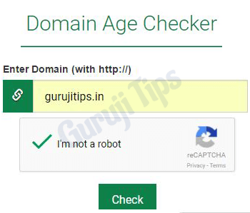 How to check Domain Age