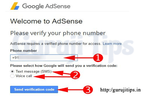Google Adsense Mobile Verification