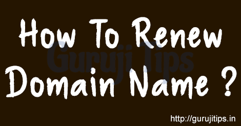 How to Renew Domain