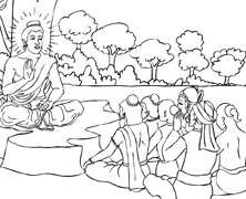Buddha Coloring Page Coloring Book Coloring Pages