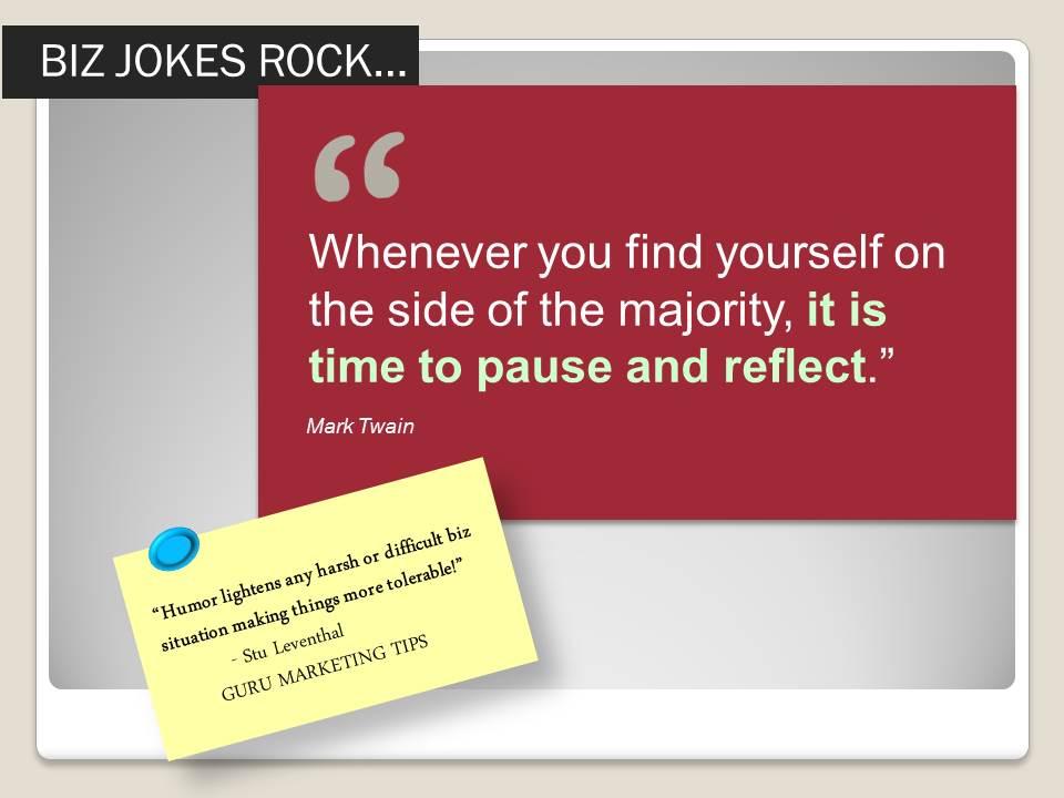 Business Jokes Rock Guru Marketing Tips