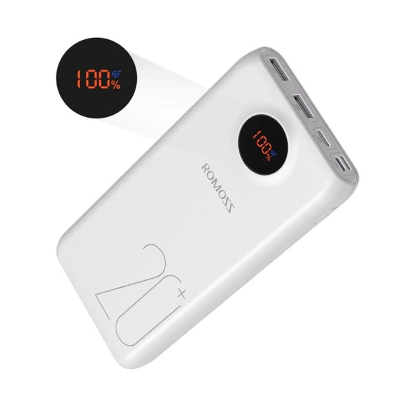 romoss sw20 power bank fast charging