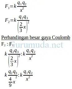 Soal Gaya Coulomb : coulomb, Pembahasan, Listrik, Statis, Fisika