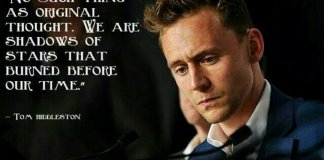 Tom Hiddleston Quotes, Image by Tom Hiddleston