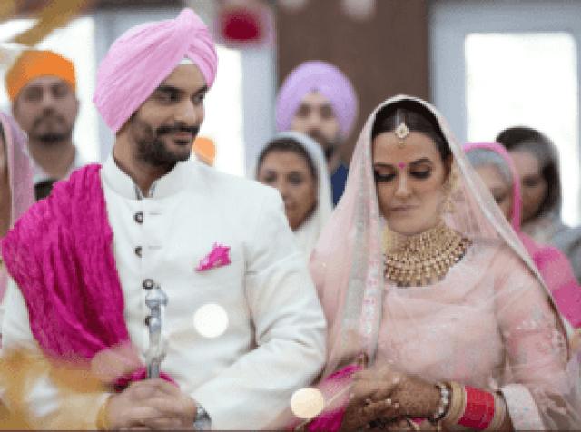 Neha Dhupia and angad bedi marriage pics