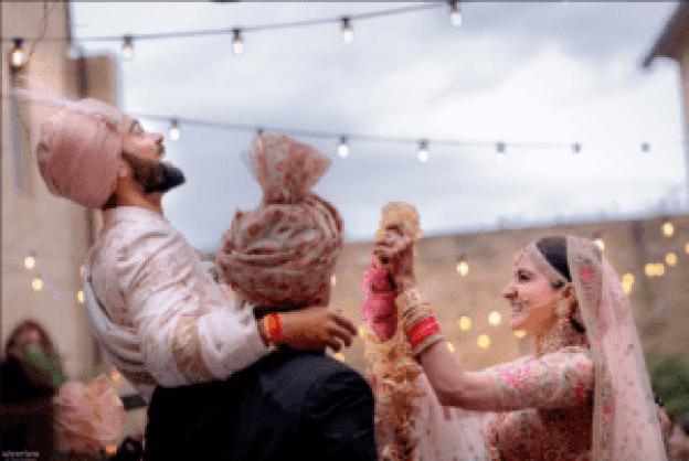 virat anushka marriage image