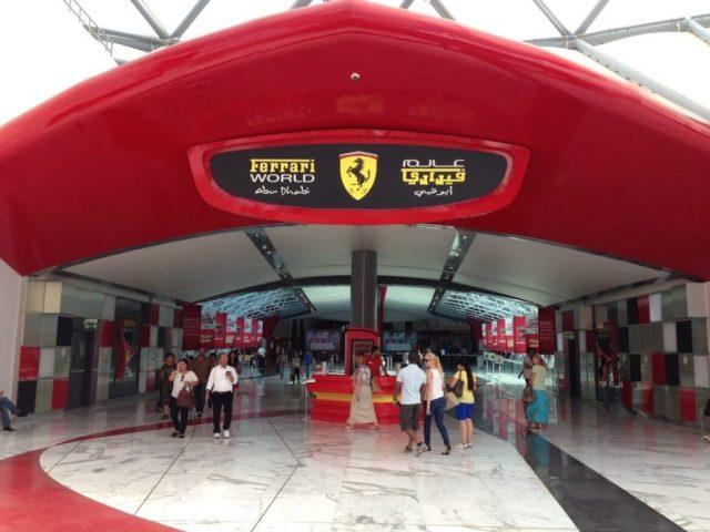 Famous Ferrari World abu dhabi