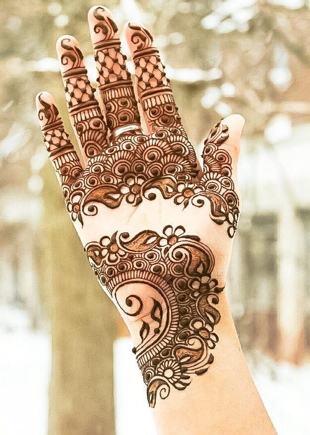 Arabic Style Simple Mehndi Designs