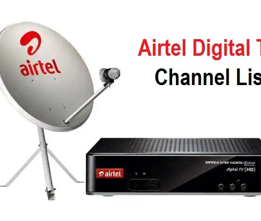 Airtel Digital TV DTH Channel List