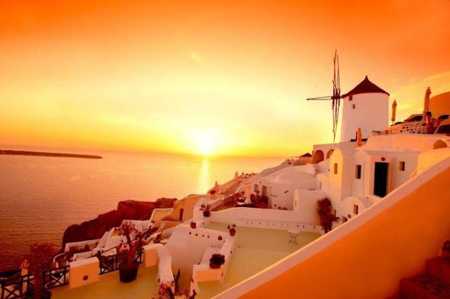 The island of Santorini in Greece
