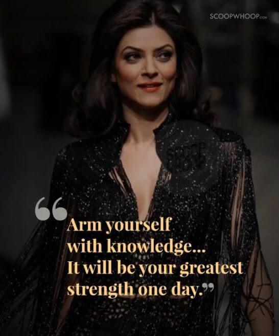 Sushmita Sen Inspirational quotes 1
