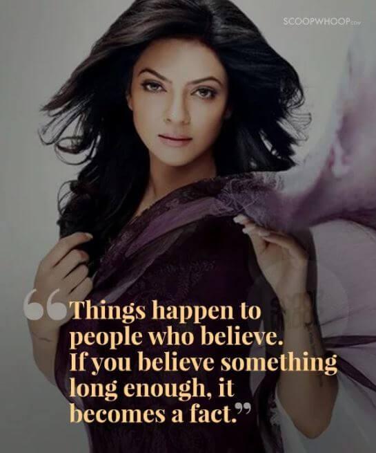Sushmita Sen inspirational quotes 16