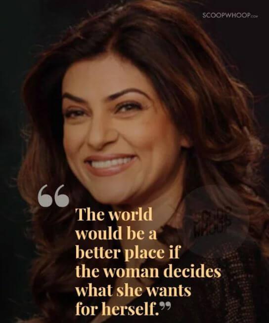 Sushmita Sen inspirational quotes 8