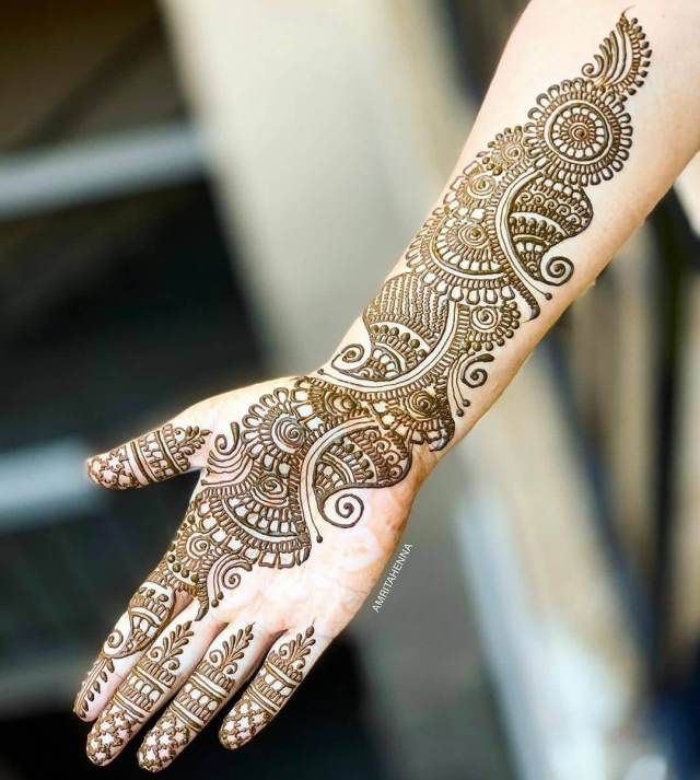 simple mehndi design for raksha bandhan